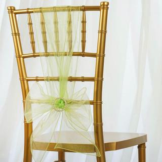 Organza Chair Sash Apple Green