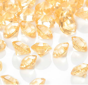 Bulk Acrylic Diamonds,  Gold (2000 pcs)