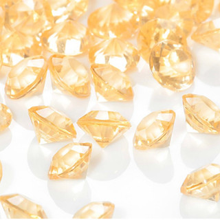 Bulk Acrylic Diamonds,  Gold (2000 pcs)
