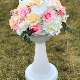 Classic Italian Inspired Flower Peach, Pink & Champagne