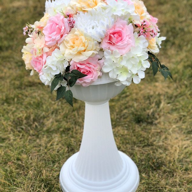 Classic Italian Inspired Flower Pink & Champagne