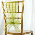 Organza Chair Sash Sage Green