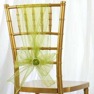 Organza Chair Sash Sage Green