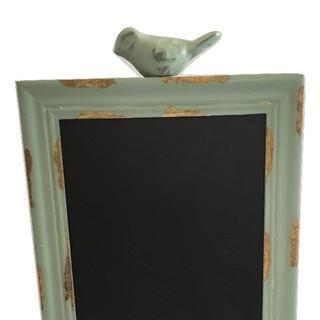 Green Bird Rustic Chalkboard Sign