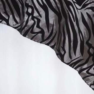 """72"""" Taffeta Velvet Flocking Zebra"""