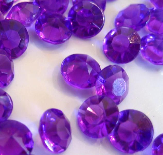 Bulk Acrylic Diamonds, Dark Purple (2000)