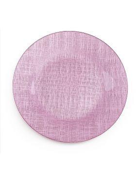"Pink Mesh Metallic Glass Charger 13"""