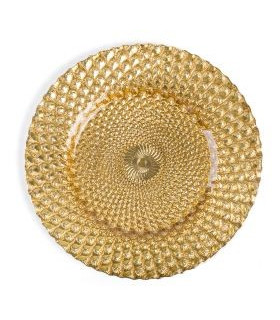"""Athena Gold Charger Plate 13"""""""