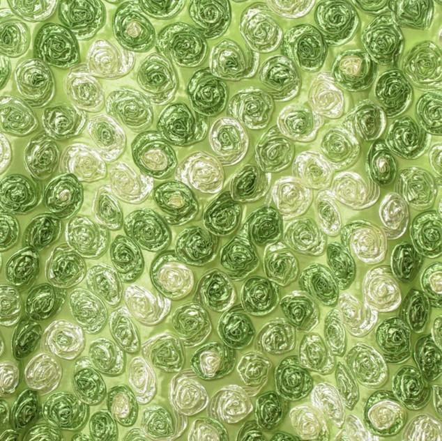 """72"""" Triple-Tone Mini Rosettes Apple Green"""
