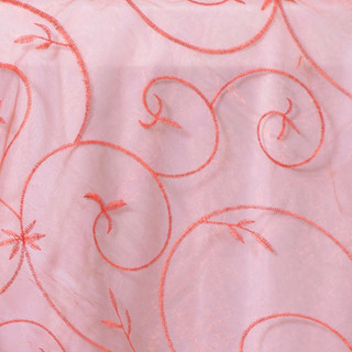 "72"" Organza Embroidered Overlay Burnt Orange"