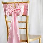 Satin Chair Sash Pink