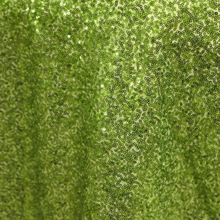 """72"""" Sequin Square Overlay Apple Green"""
