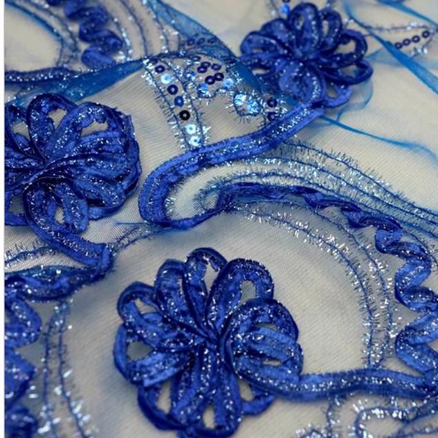 "72"" Fashionista Lace Netting Overlay Royal Blue"