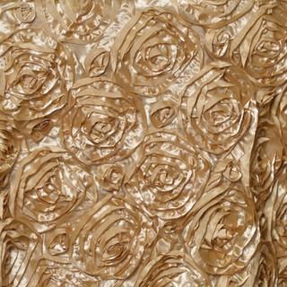 "72"" Grandiose 3D Rosette Satin Overlay Champagne"