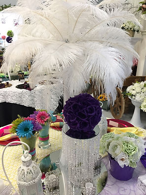 Jody's Decor showroom photo - ostrich feather