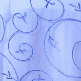 """72"""" Organza Embroidered Overlay Royal Blue"""
