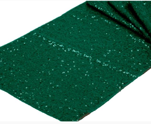 Sequin Table Runner  Emerald Green
