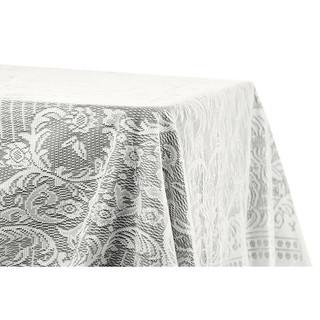 60x120 Quaker Lace Overlay Ivory