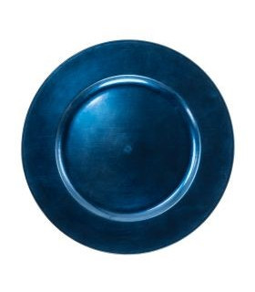 """Acrylic Dark Blue Charger Plate 13"""""""