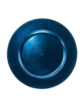 Acrylic Dark Blue Charger Plate 13""