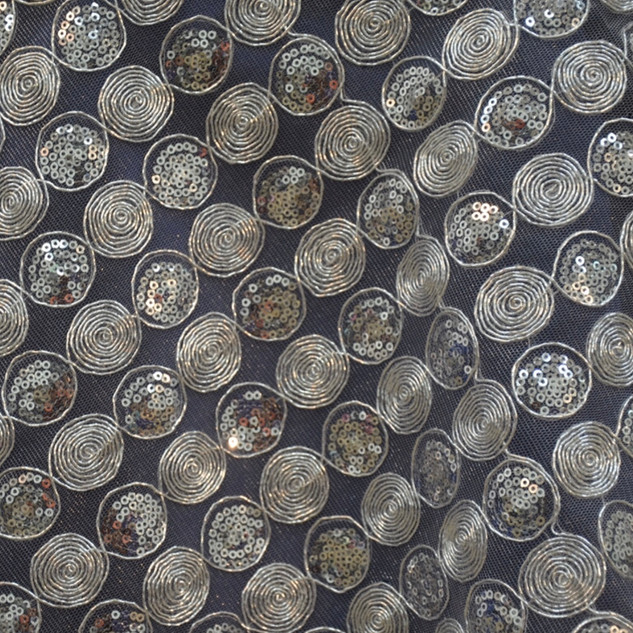 """72"""" Upscale Sequin Overlay Silver"""