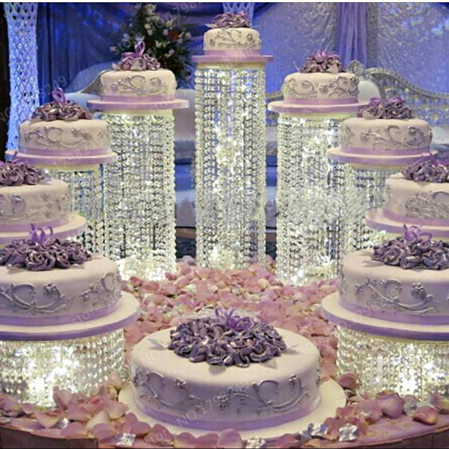 9 Piece LED Crystal Chandelier Cake Stand