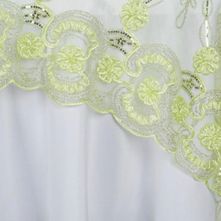 "72"" Fashionista Lace Netting Overlay Tea Green"