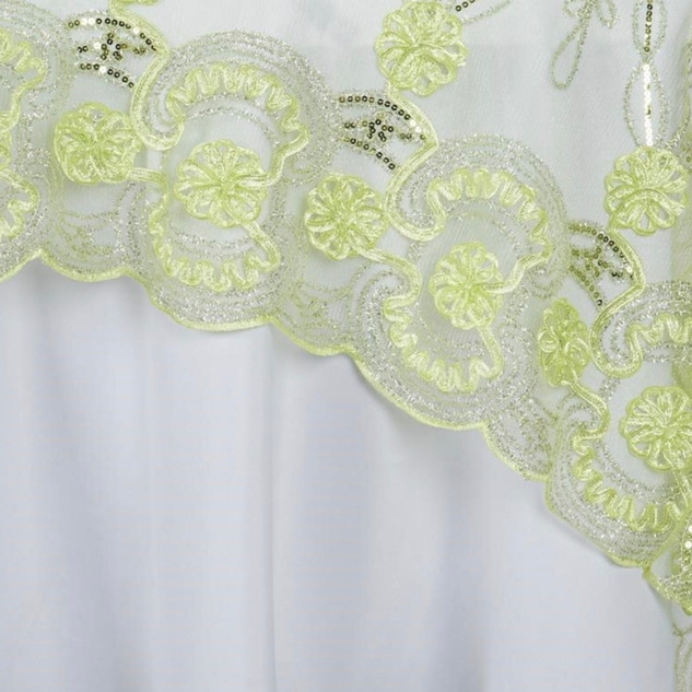 "72"" Fashionista Lace Netting Overlay Tea Green"
