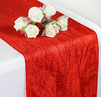 Taffeta Crinkle Runner Red