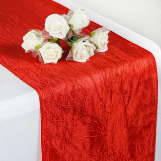 Taffeta Crinkle Runner Red
