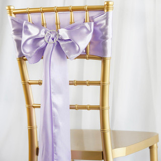 Satin Chair Sash Lavender