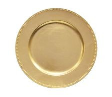 """Acrylic Gold Bead Charger Plate 13"""""""