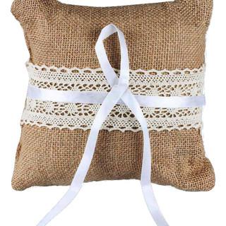 Burlap & Lace Ring Bearer Pillow