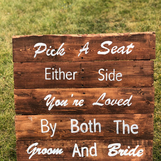 """Pick A Seat"" Sign"