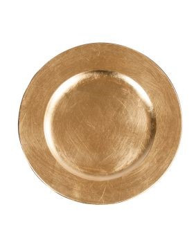 """Acrylic Gold Charger Plate 13"""""""