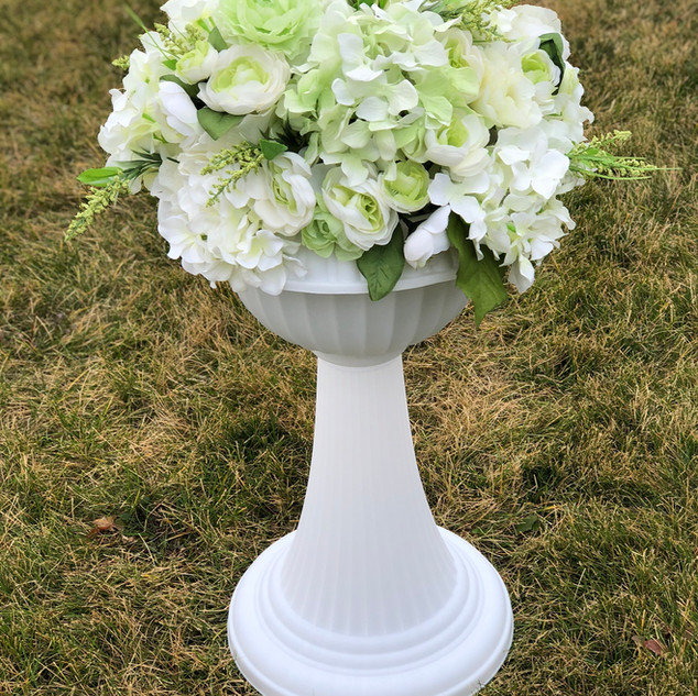 Classic Italian Inspired Flower Pot Ivory
