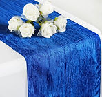 Taffeta Crinkle Runner Royal Blue