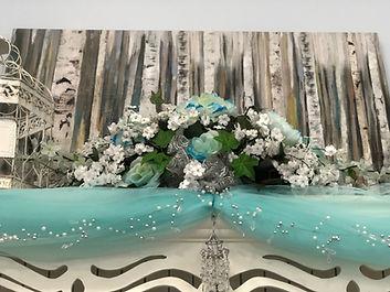 Teal Head Table Centerpiece 22_