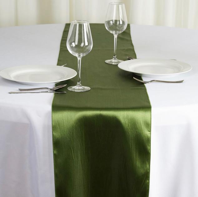 Satin Table Runner Willow Green