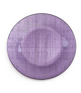 "Purple Mesh Metallic Glass Charger 13"""