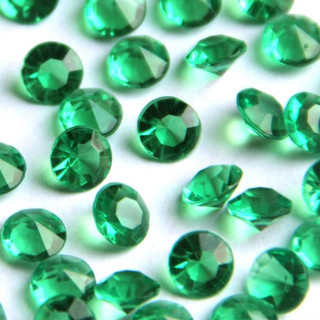 Bulk Acrylic Diamonds, Emerald Green (3500)