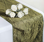 Taffeta Crinkle Runner Willow Green