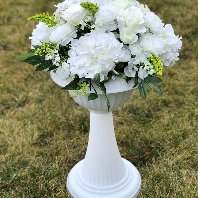 Classic Italian Inspired Flower Pot White