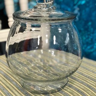 "Clear Pot Bellied Candy Jar 7.5"""