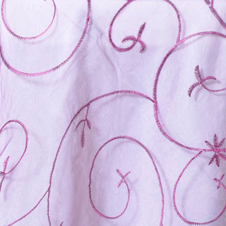 Organza Embroidered Runner Eggplant