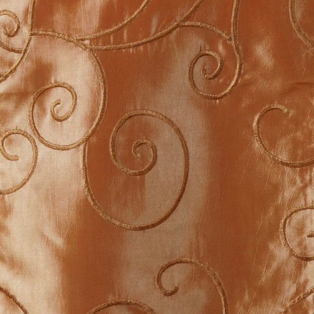 "72"" Taffeta Swirls Embroidered Overlay Gold"
