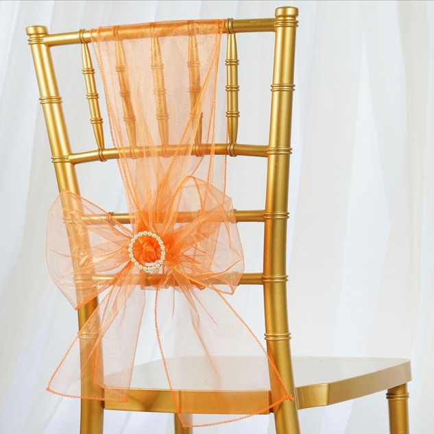 Organza Chair Sash Orange