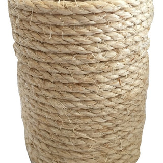 Rustic Jute Wrapped Glass Vase