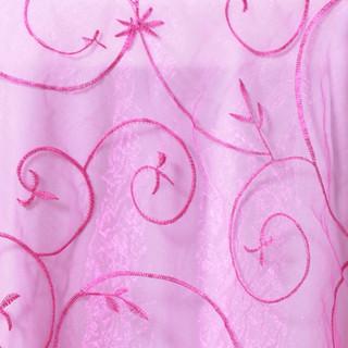 Organza Embroidered Runner Fuchsia