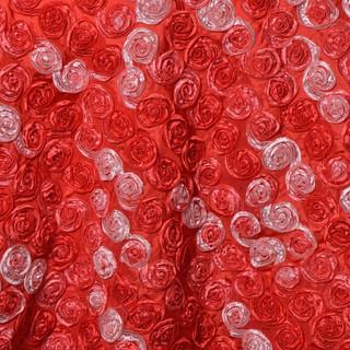 """72"""" Triple-Tone Mini Rosettes Red Umbre"""
